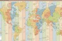 timezone map